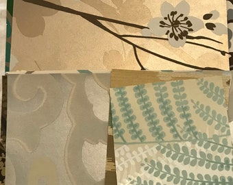 Asian Wallpaper Pack for Junk Journal, Mixed Media or Collage: 20 pieces gorgeous designer wall paper silk road theme.