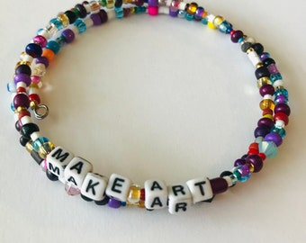 MAKE ART:  A Birdsong Art Bracelet.  MA001