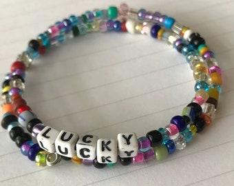 LUCKY:  A Birdsong Art Bracelet.  LUC004