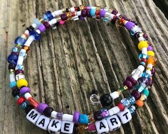 MAKE ART:  A Birdsong Art Bracelet.  MA003