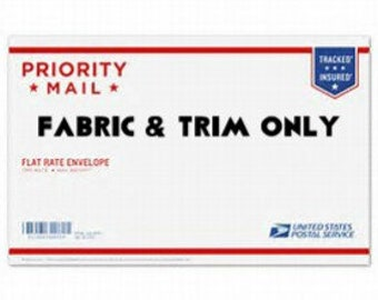 """FABRIC GRAB """"bag"""" ENVELOPE!  Let me surprise you with a priority mail legal size envelope crammed full of fabric and trim!  New fabric."""
