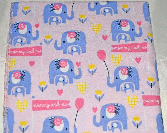 Mommy and Me-Cotton Flannel Receiving Blanket 42x42 Inches