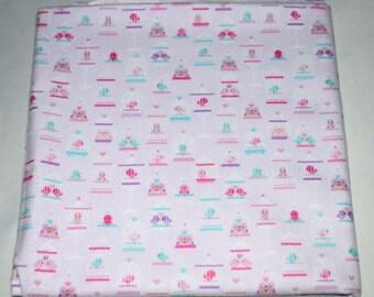 Love Birds-Cotton Flannel Receiving Blanket 42x42 Inches