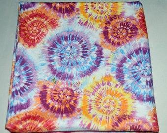 Spiraling Tie Dye-Cotton Flannel Receiving Blanket 42x42 Inches