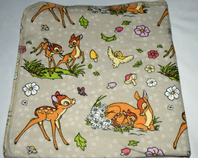 Disney's Bambi-Cotton Flannel Receiving Blanket 42x42 Inches