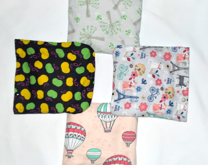 Flax Seed Heat and Cool Bag with Removable Washable Cover for the Microwave or the Freezer-Choose your print