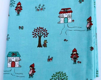 Little Red Riding Hood Cotton Flannel Receiving Blanket 42x42 Inches
