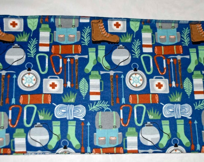 Hiking Gear Cotton Flannel Receiving Blanket 42x42 Inches