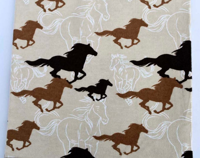 Mustang Gang Cotton Flannel Receiving Blanket 42x42 Inches