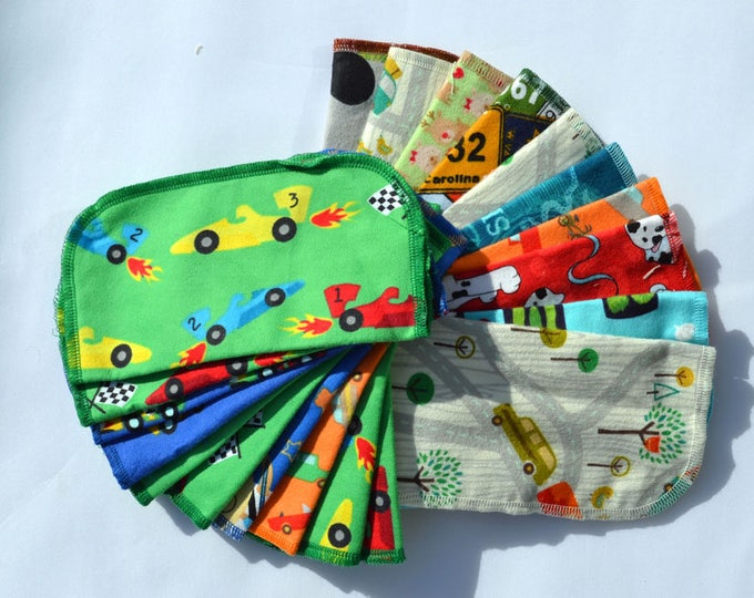 Seconds 2 PLY Printed BOYS Sets Flannel... 8x8 10 Pack
