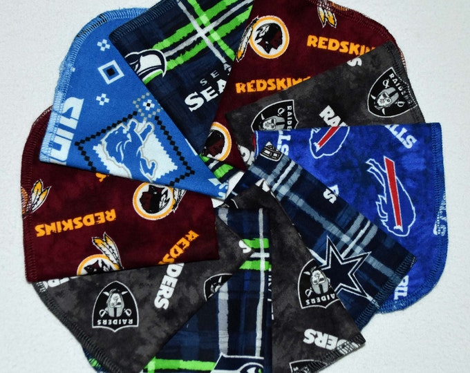 SECONDS-Sports Teams Printed Flannel---10x10 .... 10Pack