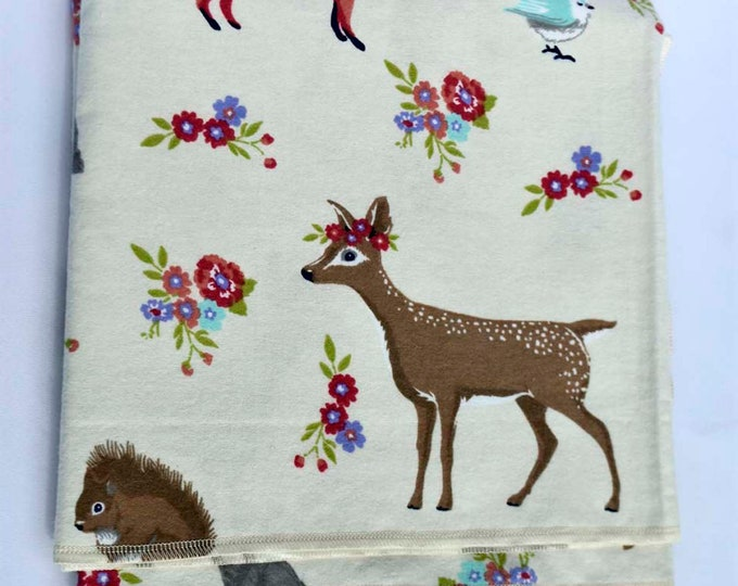 Sweet Woodlands Cotton Flannel Receiving Blanket 42x42 Inches