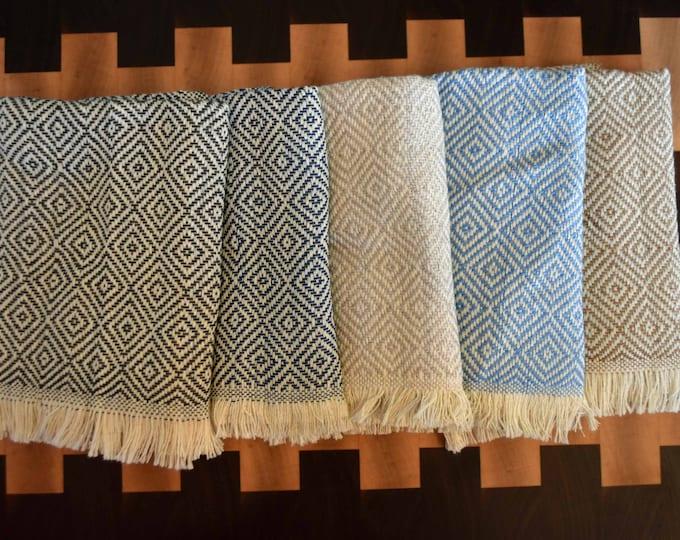 "Turkish Cotton Towels 20""x11.5"" Dish Towel Set of 2 Diamond"