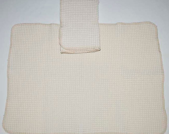 100% Organic Cotton Waffle Weave Natural Dish towel-Set of 1 12x22 inches