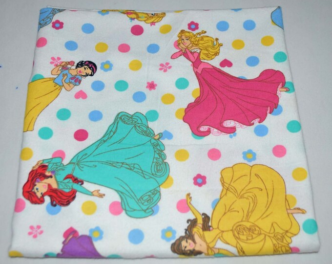 Disney Princesses-Cotton Flannel Receiving Blanket 42x42 Inches