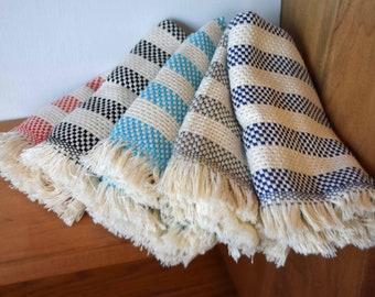"""Turkish Cotton Towels 20""""x11.5"""" Dish Towel Set of 2 Stripes"""