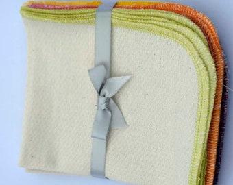 CLOSEOUT SALE!!! Organic Birdseye Cotton 9x11.... 1PLY  10 Pack