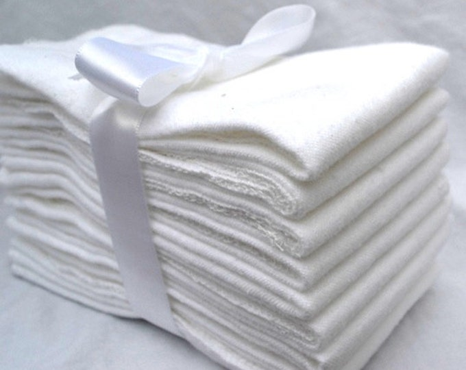 Flannel Paperless Towels, Wipes, or Napkins 11x12 inch size -- Your Choice of Color and Quantity