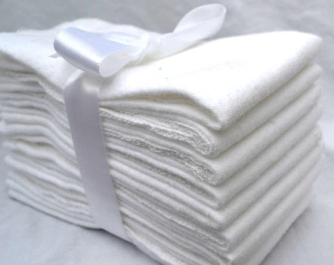 White Flannel Paperless Towels, Wipes, or Napkins 11x12 inch size -- Your Choice of Color and Quantity