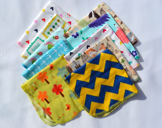 Seconds Printed GIRLS Sets Flannel 1 Ply... 12x12 10 Pack