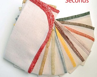 SECONDS 14x14 1PLY Organic Paperless towels, Pack of 10 - Great Bargain