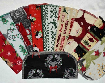 Seconds 2 PLY Printed Christmas Sets Flannel... 8x8 10 Pack