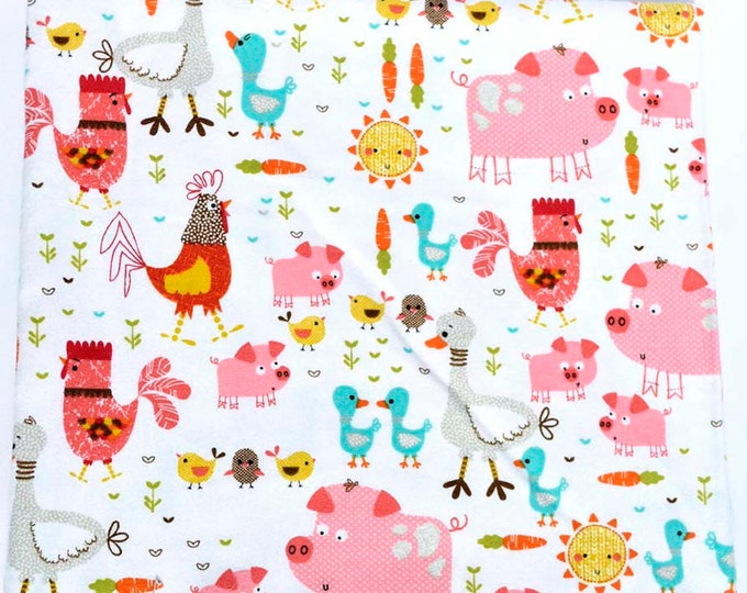 Farmgirl Life Cotton Flannel Receiving Blanket 42x42 Inches