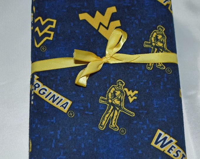 WV Mountaineers- Cotton Flannel Receiving Blanket 42x42 Inches