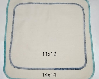 2-Ply 12x12 Pre Shrunk Large Size Dyed Cotton Paperless Towels or Napkins Your choice of color