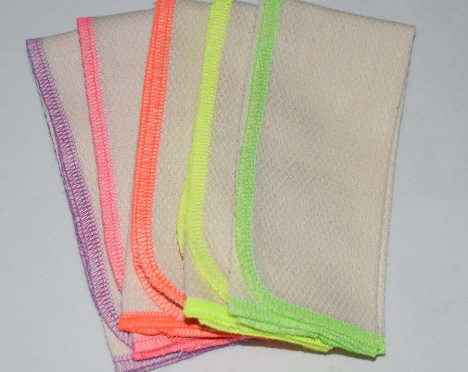 Try It Set of 5 PaperLess Towels -- Organic Birdseye Fabric