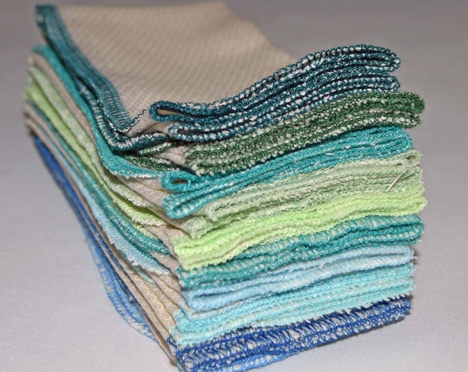 1 Ply Organic Cotton Paperless Towels - 11x12 inches Organic Birdseye Cotton - Your Choice of Edging Color and Quantity