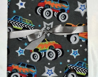 Monster Truck-Cotton Flannel Receiving Blanket 42x42 Inches