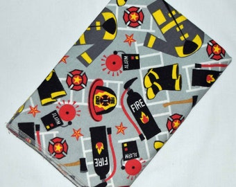 Firefighter- Cotton Flannel Receiving Blanket 41x41 Inches