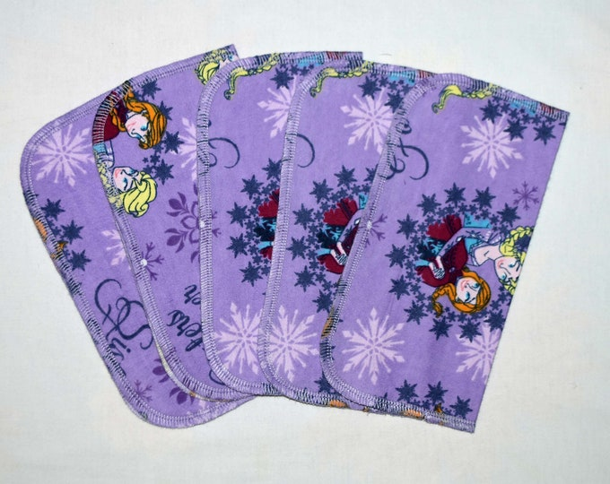 CLOSEOUT!!!!! Frozen Sisters Forever Set Flannel 1 Ply... 8x8 Little Wipes 5 Pack