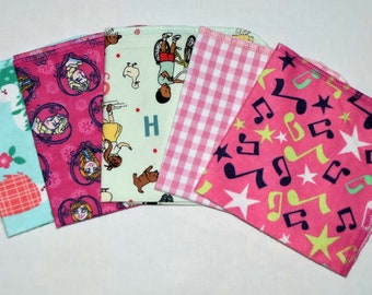 CLOSEOUT!!!!! Little Girl Variety Flannel Set 1 Ply... 12x12 Little Wipes 5 Pack