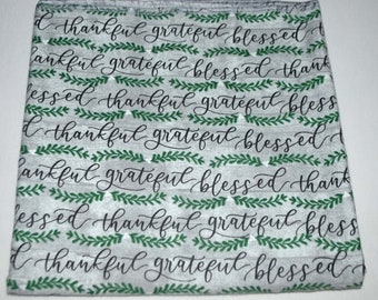 Thankful Snuggles -Cotton Flannel Receiving Blanket 42x42 Inches