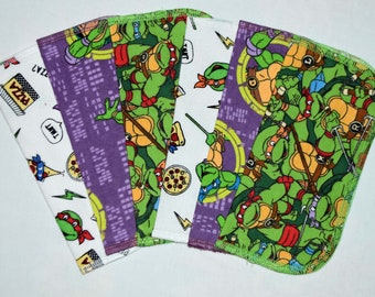 CLOSEOUT!!!!! Teenage Mutant Ninja Turtles Variety Set Flannel 1 Ply... 8x8 Little Wipes 6 Pack