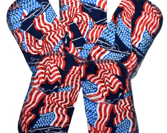 American Flag Set Flannel 1 Ply... 8x8 Little Wipes 5 Pack