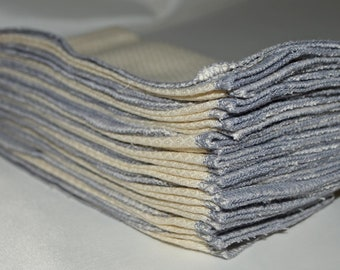 1-Ply Unbleached Birsdseye Cotton Paperless Towels or Napkins ******Your choice of color edging