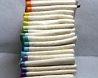 20 pack Flannel GOTS Certified Organic Cotton Paperless Towels.....Your Choice of Edging Color