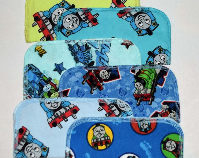 CLOSEOUT!!!!! Thomas The Train Variety Set Flannel 1 Ply... 8x8 Little Wipes 5 Pack