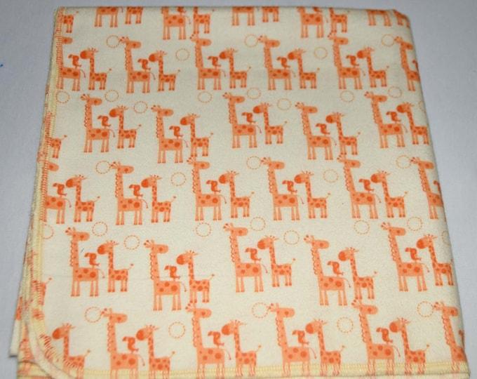 Precious Giraffes -Cotton Flannel Receiving Blanket 42x42 Inches