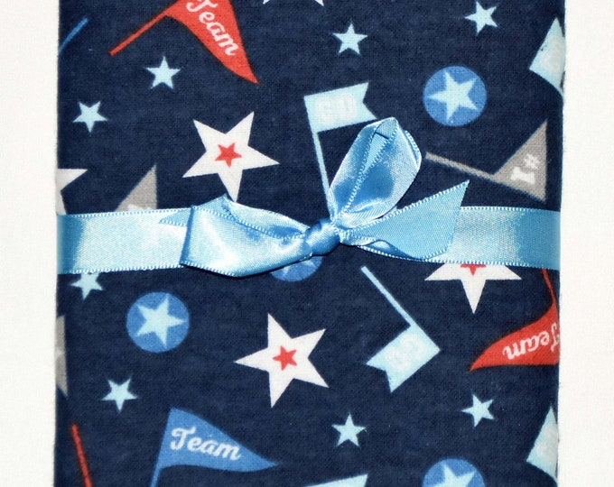 All Star Team-Cotton Flannel Receiving Blanket 42x42 Inches