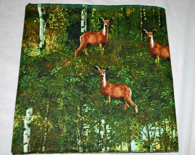 Oh, Deer Cotton Flannel Receiving Blanket 42x42 Inches