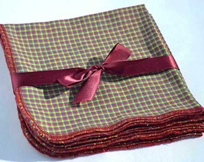 SECONDS-Gentleman's Casual Hankies.  Size 10x10*** 4 Pack