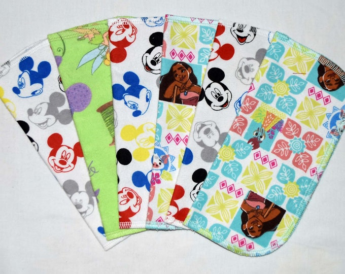CLOSEOUT!!!!! Disney Friends Variety Set Flannel 2 Ply... 8x8 Little Wipes 6 Pack