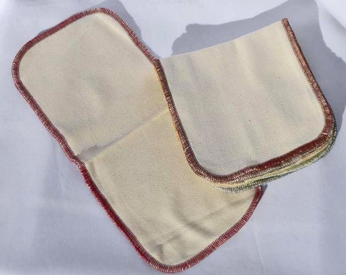 Organic Cotton Birdseye 2-Ply Half Sheet Paperless Towels*****Your Choice of Edging Color and Quantity