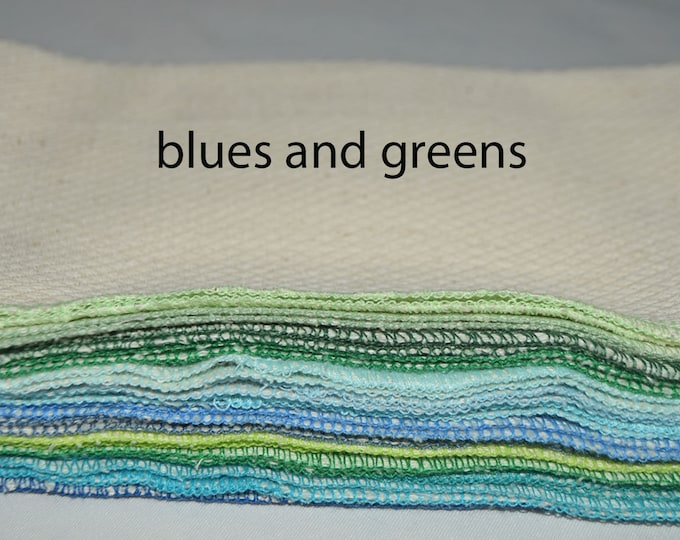 Unbleached Cotton Cloth Wipes Little Wipes 8x8 1-Ply.....Your Choice of Edging Color and Pack Size