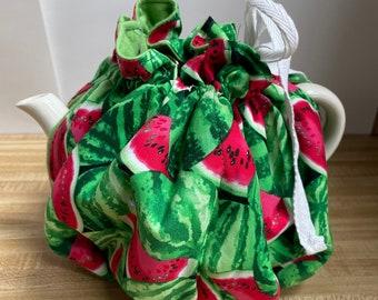 Watermelon Tea Cozy Cotton Drawstring