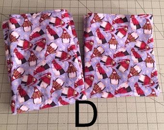 Winter Flannel Bedding Pillowcases, Penguin Snowmen, Snowladies, Standard Size, Ready to ship